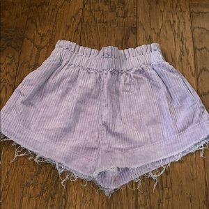 purple urban outfitters corduroy shorts